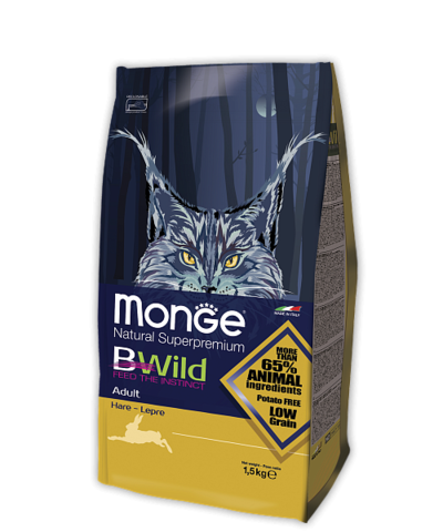 Сухой корм Monge Bwild Adult Cat Hare