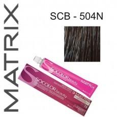 Matrix SOCOLOR.beauty: Extra-Coverage Neutral 504N шатен 100% покрытие седины, краска стойкая для волос (перманентная), 90мл