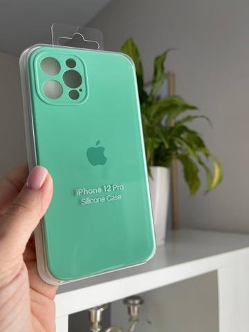 iPhone 12 (6.1) Silicone Case Full Camera /spearmint /