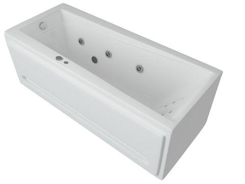 Ванна акриловая Aquatek Либра  150х70см. на каркасе и сливом-переливом.