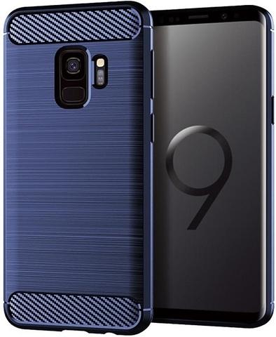 Чехол Samsung Galaxy S9 цвет Blue (синий), серия Carbon, Caseport
