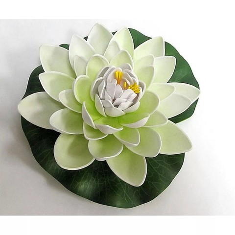 Растение декоративное Водная лилия d20см белый