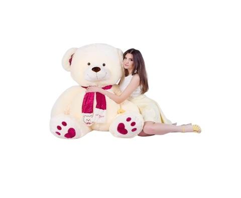 Игрушка Плюшевый медведь Кельвин (190 см). Молочный