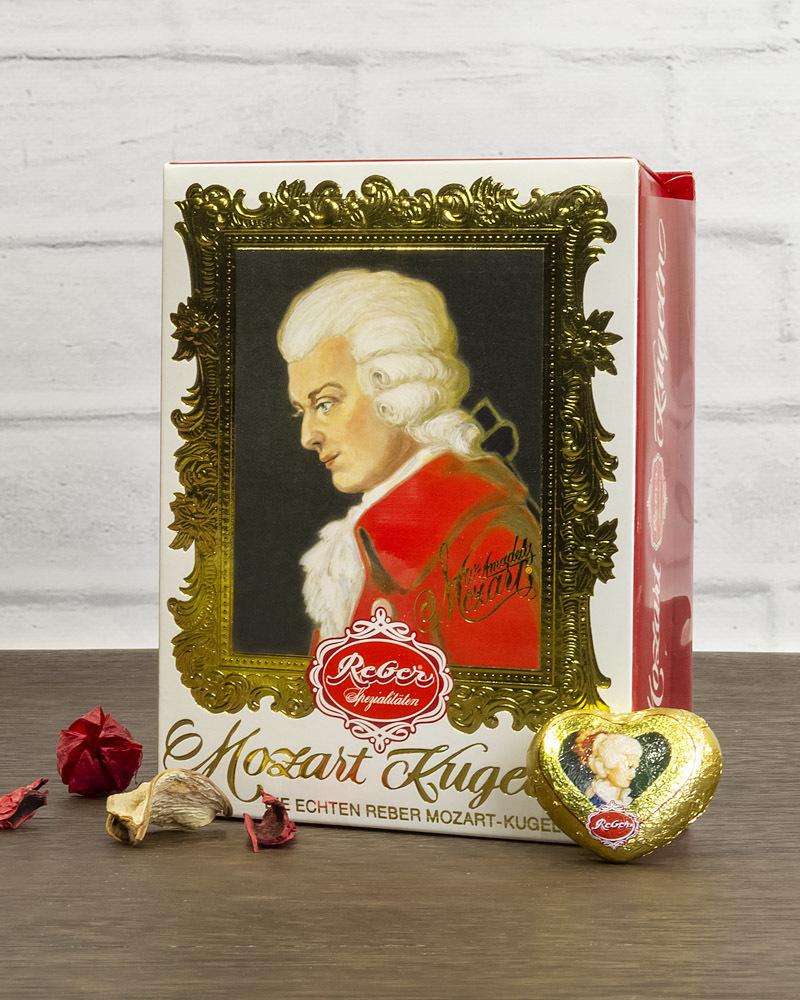 Шоколадные Конфеты Reber с Горьким Шоколадом в Подарочной Упаковке, 120 гр.