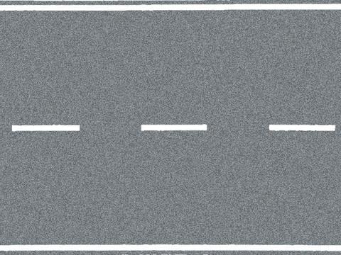 Федеральное шоссе, серое - 100 х 8 см, (H0)