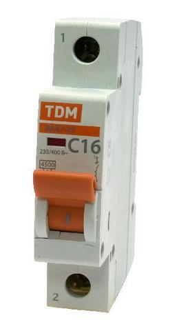 Авт. выкл.ВА47-29 1Р  2А 4,5кА х-ка В TDM