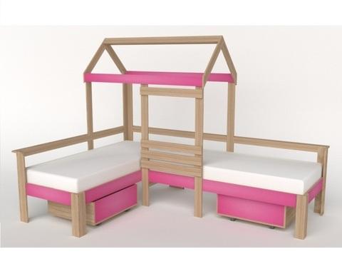 Кровать-домик АВАРА-2 с ящиками правая 1700-700 /2552*1800*1832/