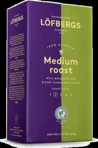 Кофе молотый Lofbergs Medium Roast 500 гр