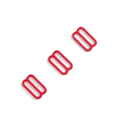 Регулятор для бретели красный 15 мм (металл) (цв. 100)