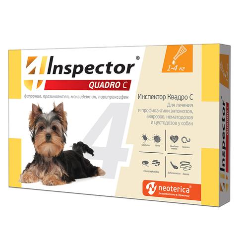 INSPEСTOR Quadro K (Инспектор) для собак менее 4 кг   1 пип.