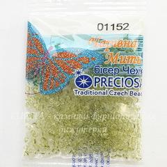01152 Бисер 10/0 Preciosa Кристалл Соль-Гель светло-салатовый