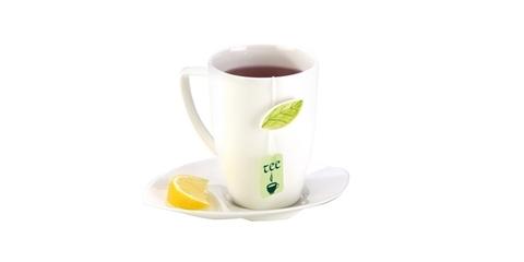 Чайная кружка с блюдцем YASMIN