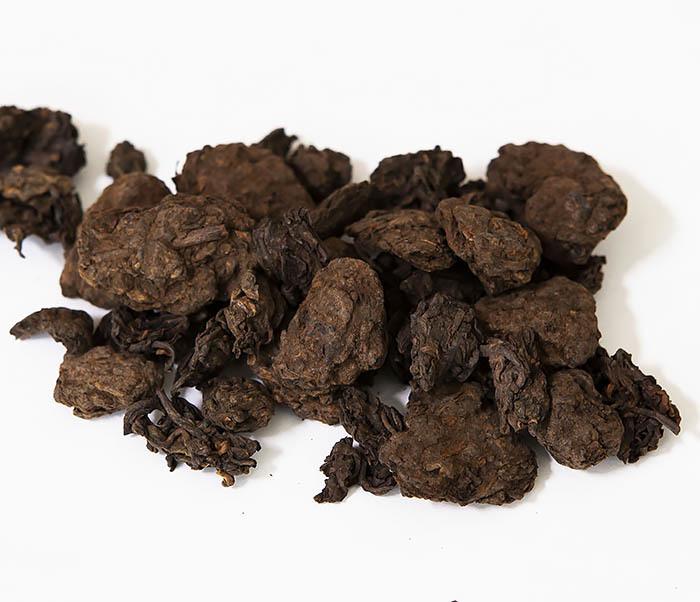 TEA-CH118 Китайский чай шу пуэр «Старые Чайные Головы» (Лао Ча Тоу, крупная фракция, 50 гр)