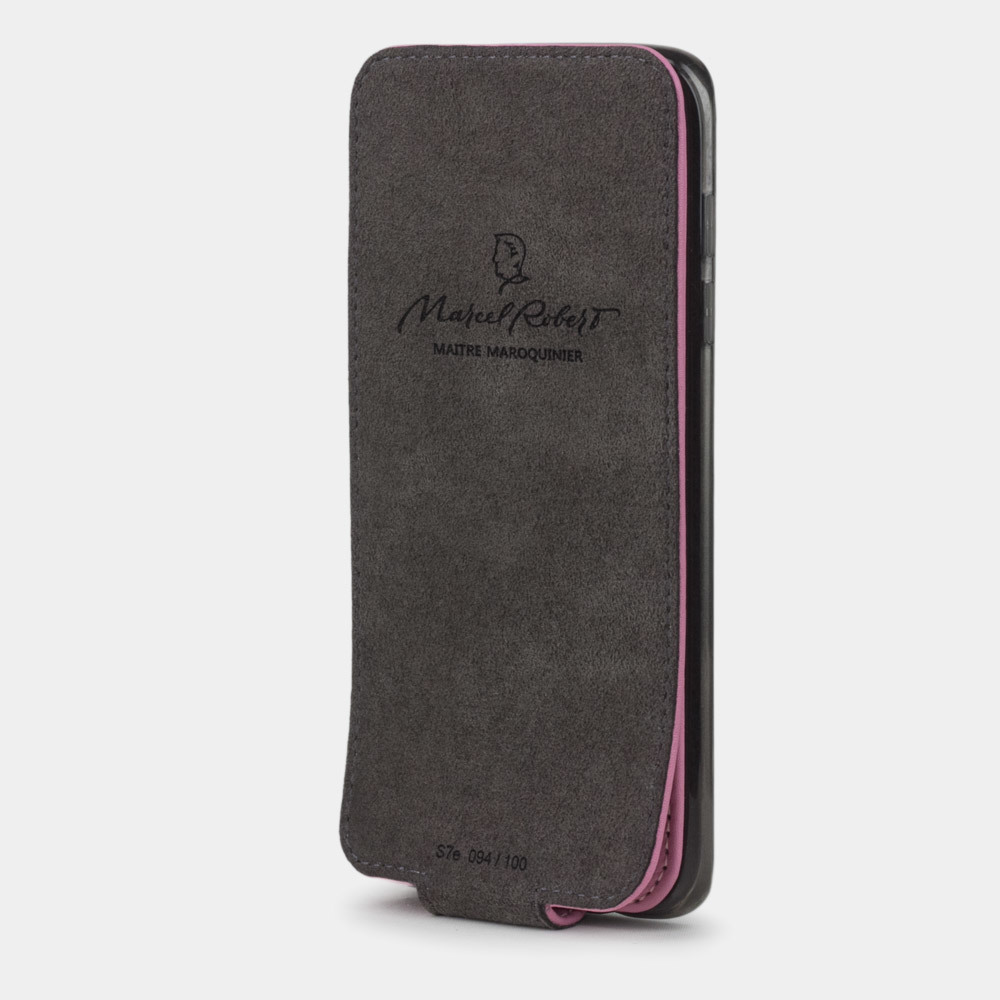 Чехол для Samsung Galaxy S7 edge из натуральной кожи теленка, розового цвета