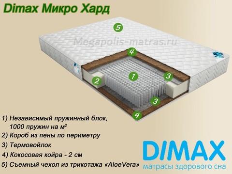 Матрас Димакс Микро Хард купить недорого в Москве от Мегаполис-матрас