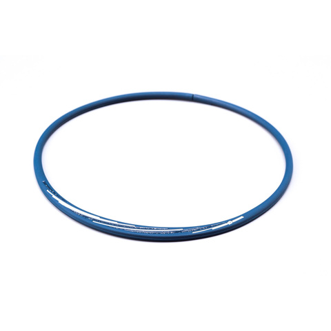 Ожерелье PHITEN RAKUWA NECKLACE S SLASH LINE, w lame (сине-белый)