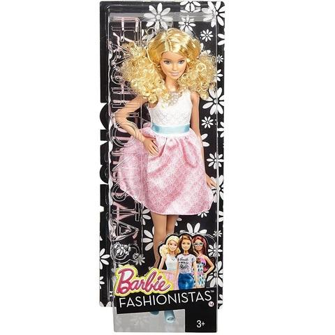 Барби Fashionistas 14 Пудрово-Розовое Платье