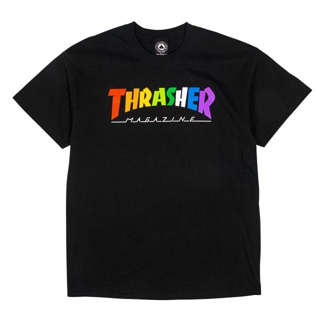 Футболка THRASHER Rainbow Mag (Black)