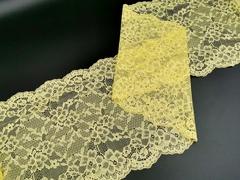 Эластичное кружево, ОПТ,  22 см, желтое, (Арт: EK-2297), м
