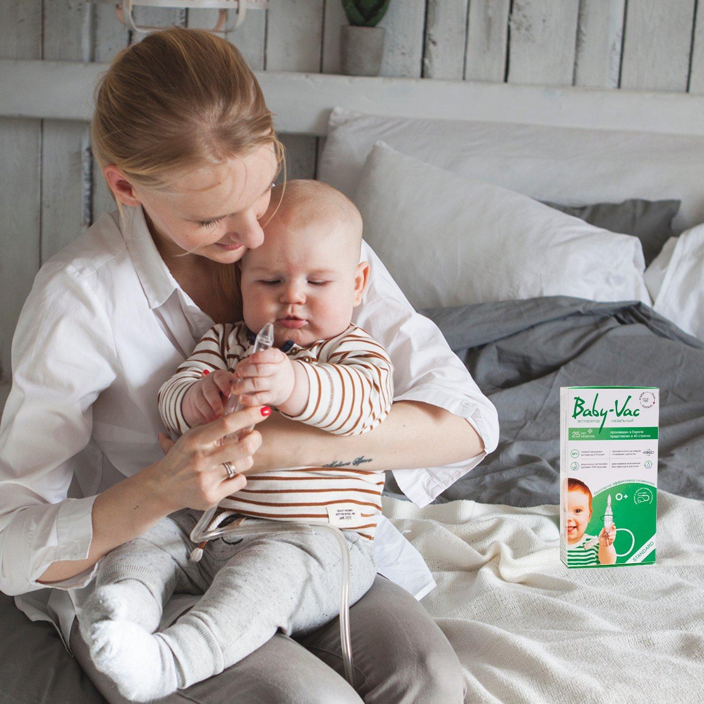 Baby-Vac Аспиратор назальный детский (Бейби-Вак) с двумя сменными многоразовыми насадками