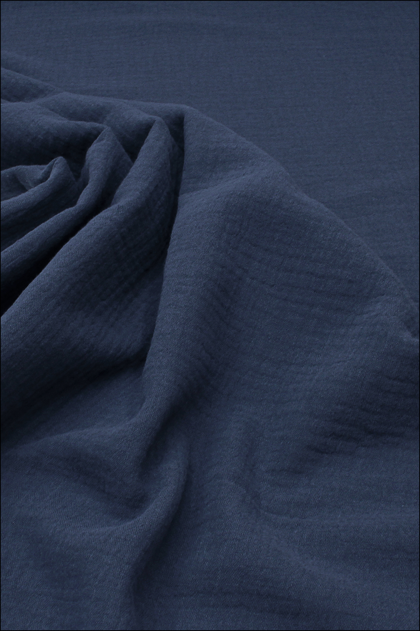 Ткань муслиновая, синий океан