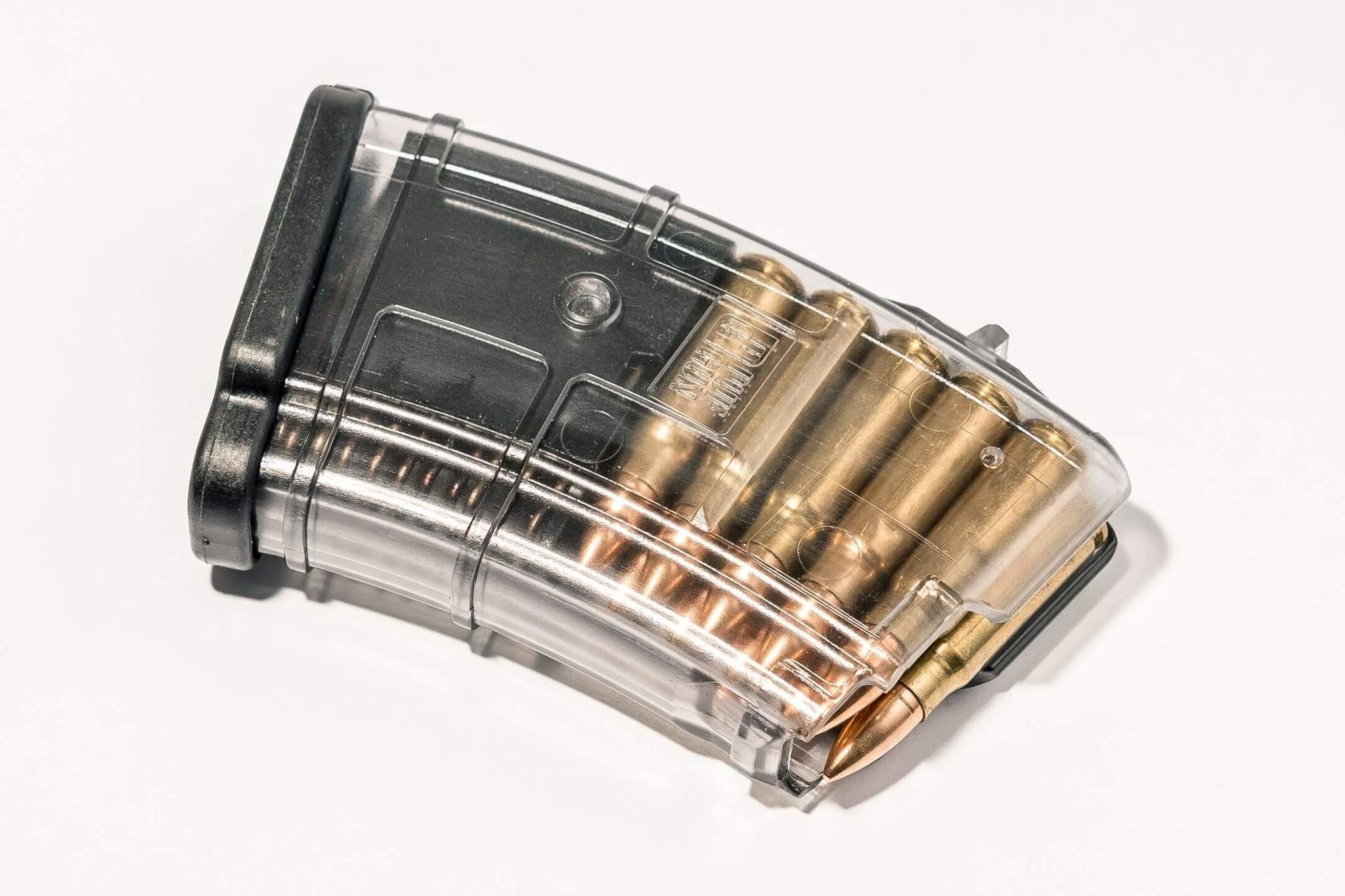 Магазин Pufgun для АКМ 7.62x39 ВПО-136 на 10 патронов, прозрачный
