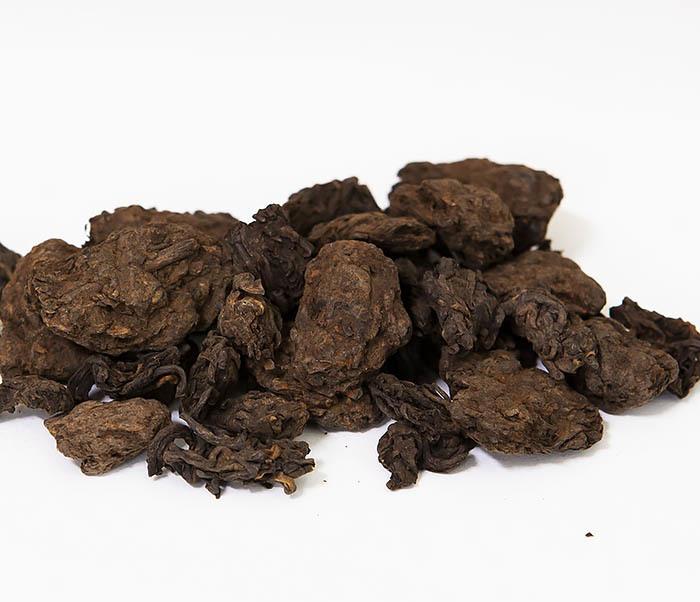 TEA-CH118 Китайский чай шу пуэр «Старые Чайные Головы» (Лао Ча Тоу, крупная фракция, 50 гр) фото 02