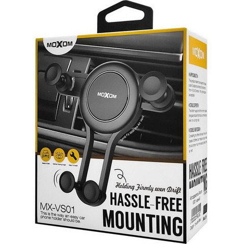 Автодержатель Moxom VS01 Air, зажимной, black