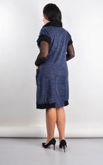 Элла. Стильное платье плюс сайз. Синий.