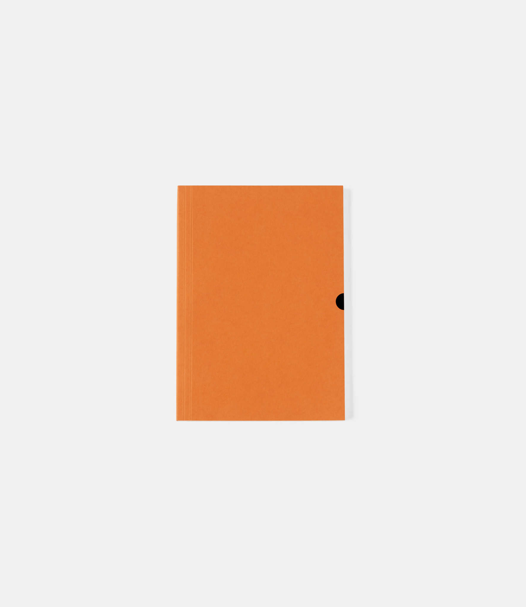 Mark+Fold Plain Notebook — линованный блокнот А5: оранжевый