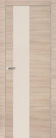Дверь № 5 Z (капучино кроскут, остекленная экошпон), фабрика Profil Doors