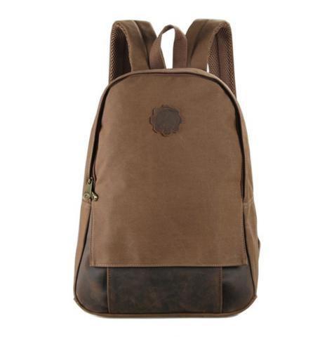 Рюкзак из кожи и ткани River 9004C