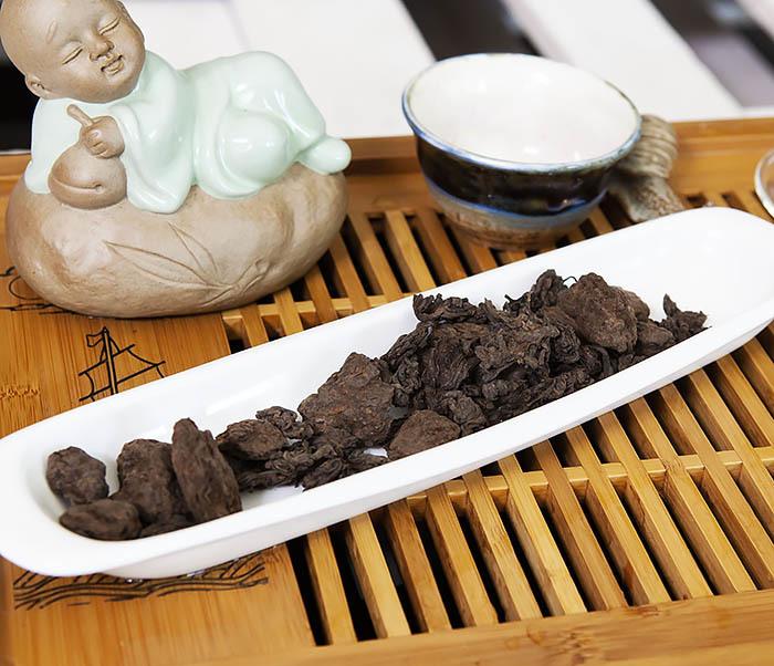 TEA-CH118 Китайский чай шу пуэр «Старые Чайные Головы» (Лао Ча Тоу, крупная фракция, 50 гр) фото 03