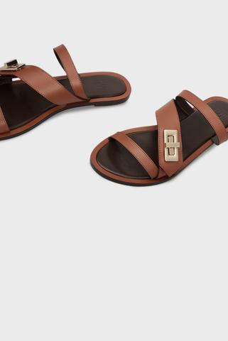 Женские коричневые слайдеры Federica PRPY