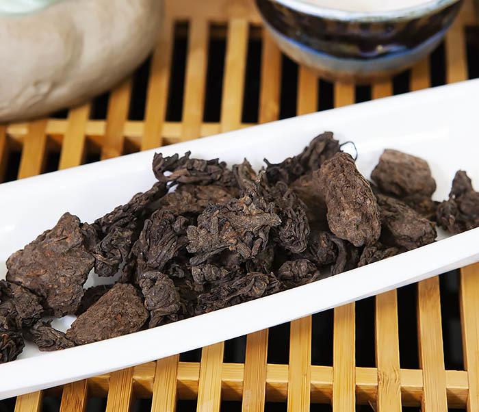 TEA-CH118 Китайский чай шу пуэр «Старые Чайные Головы» (Лао Ча Тоу, крупная фракция, 50 гр) фото 04