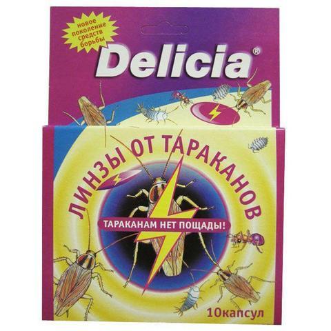 """Линзы-таблетки """"Delicia"""" от тараканов и других ползающих насекомых, 10 капсул"""