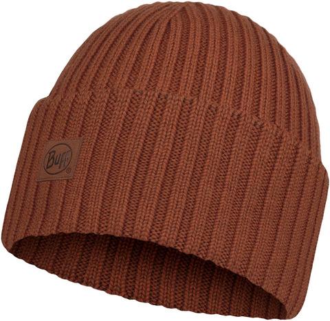 Вязаная шерстяная шапка Buff Hat Wool Knitted Ervin Rusty фото 1