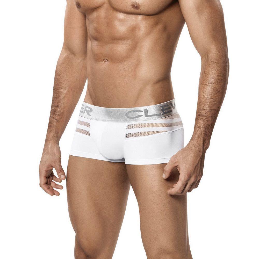 Мужские трусы боксеры белые Clever Ammolite Latin Boxer 221001