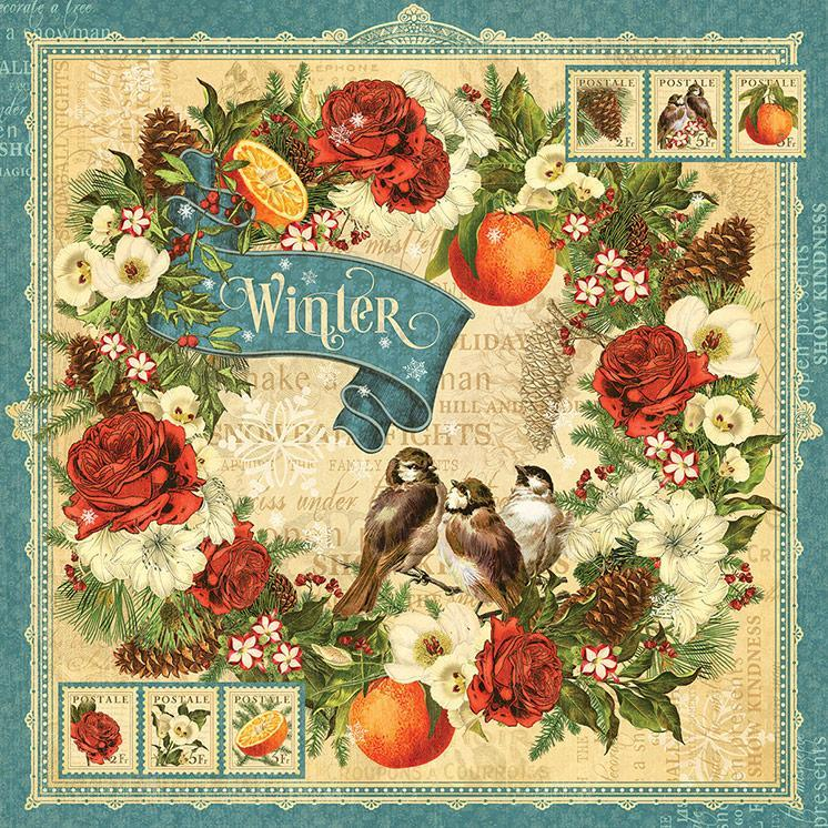 Бумага для скрапбукинга Winter, Graphic45