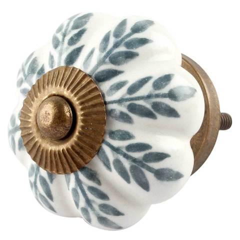 Ручка мебельная керамическая белая
