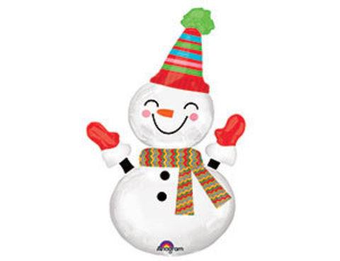 Фольгированный шар Снеговик улыбчивый