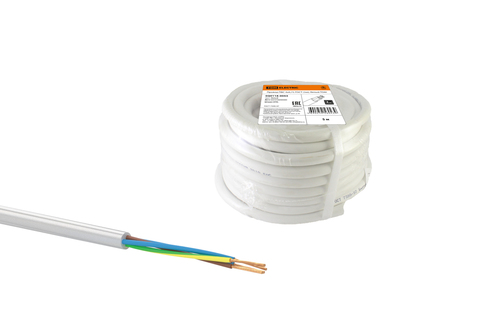 Провод ПВС 5х4 ГОСТ (30м), белый TDM