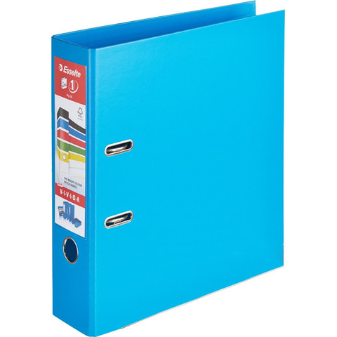 Папка-регистратор Esselte Стандарт Плюс 80 мм синяя