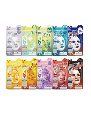 Elizavecca Набор тканевых масок для лица Elizavecca Deep Power Ringer Mask Pack, 10 шт. по 23 мл.