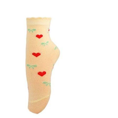 Носки для девочки Цветочки-сердечки Para soks