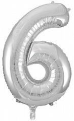 К 34''/86см, Цифра 6, Серебро.