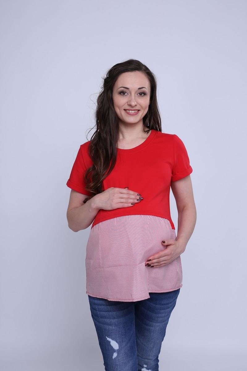 Футболка для беременных 09591 красный