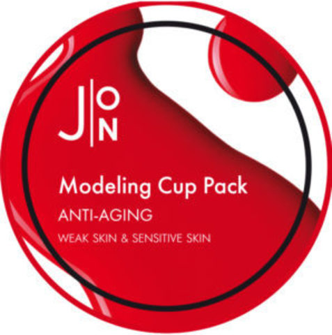 J:ON Anti-Aging Modeling Pack альгинатная антивозрастная маска для лица с женьшенем