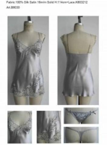 Пижама шелковая (Charoi) топ + стринги