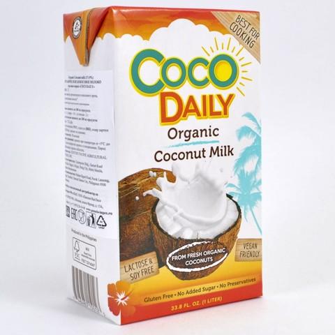 Молоко кокосовое органическое (жирность 17-19%) COCO DAILY, 1л